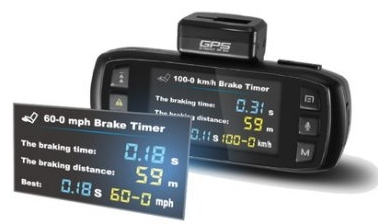 Braking distance and timed measurments for motorsport champions